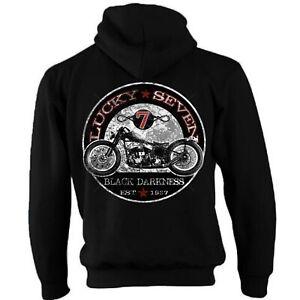 7 Chopper Biker Giacca Con Moto Bobber Lucky Cerniera Cappuccio Motorino Felpa qwvO0qSH