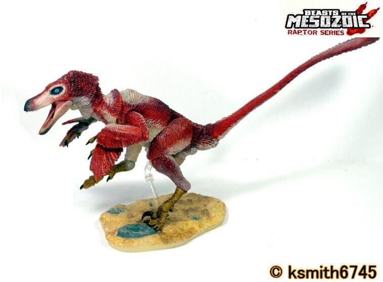 Bestie del Mesozoico VELOCIRAPTOR osmolskae Rosso DINOSAURO 1 6 modellolololo Raptor