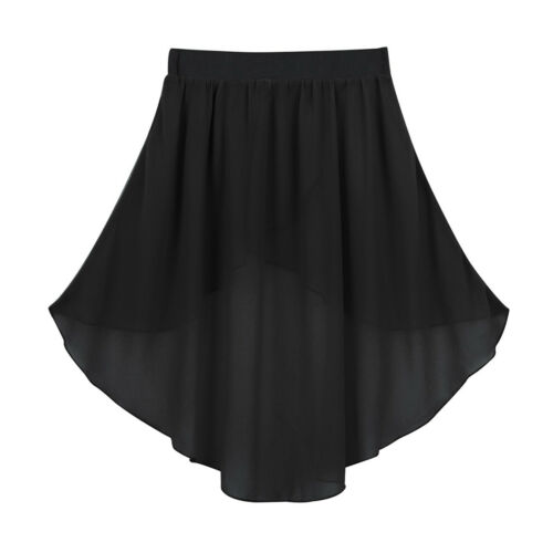 UK Girls Dance Skirt Ballet Latin Gym Chiffon Tutu Dress Kids Dancewear Costumes