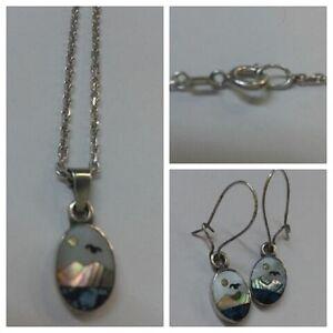 Set-Gioielli-COLLANA-U-orecchini-925-argento-M-IMMAGINE-accessori-in-argento