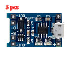 5PCS Micro USB 5V 1A 18650 TP4056 Lithium Battery Charger Module Charging Board
