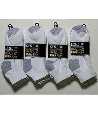 12 Pair Womens Cotton White Low Cut Sport Socks Gray Heel Toe NEW