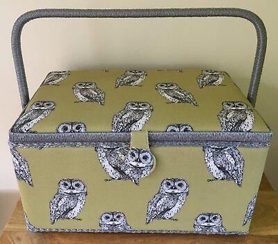 SEWING BOX BASKET Large /& Medium available /'SCOTTIE DOG/' DESIGN SUPER QUALITY