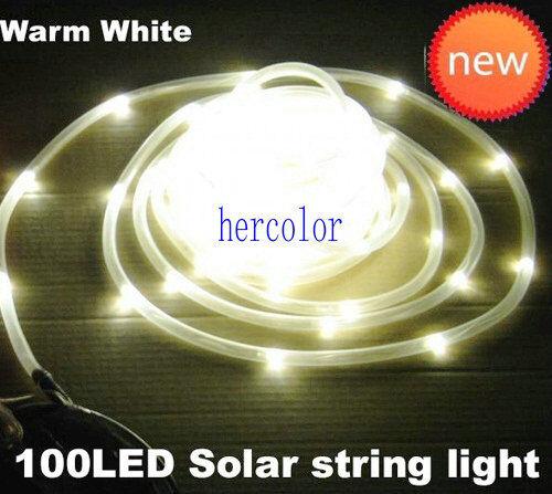 10M Solar Strip PVC TUBE 100 LED String Garden Light 5 Color Options GTHJU-45