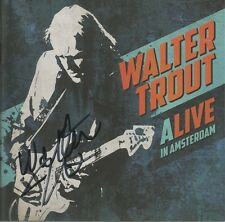Alive In Amsterdam * by Walter Trout  (CD, 2016, Provogue) Original Signed