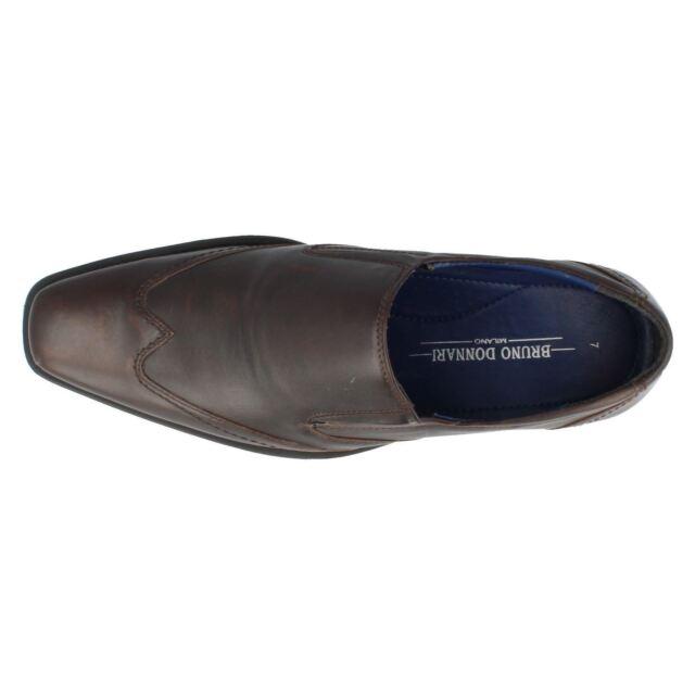 Mens Bruno Donnari NN901 Black Or Brown Or Tan Slip On Smart Shoes R40B Kett
