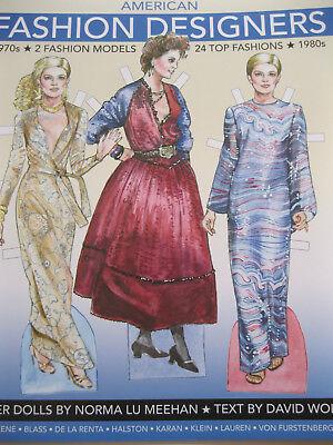 American Fashion Designers Of The 1970s 80s Paper Dolls W 24 Fashions 9781942490340 Ebay