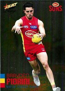 New-2020-GOLD-COAST-SUNS-AFL-Card-BRAYDEN-FIORINI-Footy-Stars-Prestige