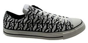 CONVERSE CT Robert Indiana Ox Sneaker Uomo Bianco Nero Love 114024 D46