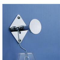 3 Dress Room Wall Mount Hook W/ Disc - Fitting Room Hanger - Chrome - 10 Pieces