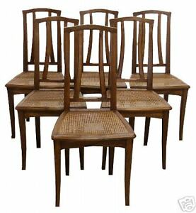 Image Is Loading Set Of Six Art Nouveau Dining Chairs France