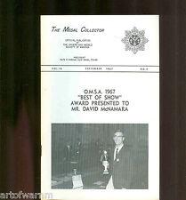 MEDAL COLLECTOR  Vol  18  # 9    1967   (  OMSA Journal )