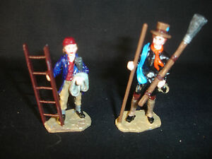 Lead Toy Little Toy Soldiers Custom Hand Painted Figure Figurine Sweeper Ladder