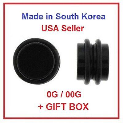 Magnetic Black Fake Cheater Ear Plugs Earrings Looks 0G 8mm 00G 10mm 1 Pair