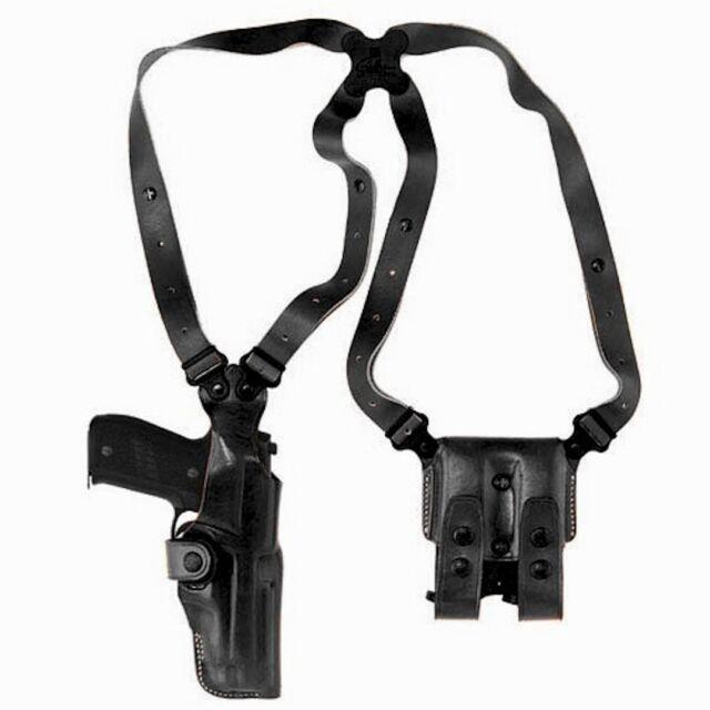 Galco Vertical Shoulder Holster, Ambi Black for Glocks 9/40's VHS224B