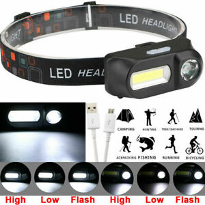 6-Mode-LED-COB-USB-Rechargeable-Headlamp-Headlight-Head-Torch-Flashlight-Bs