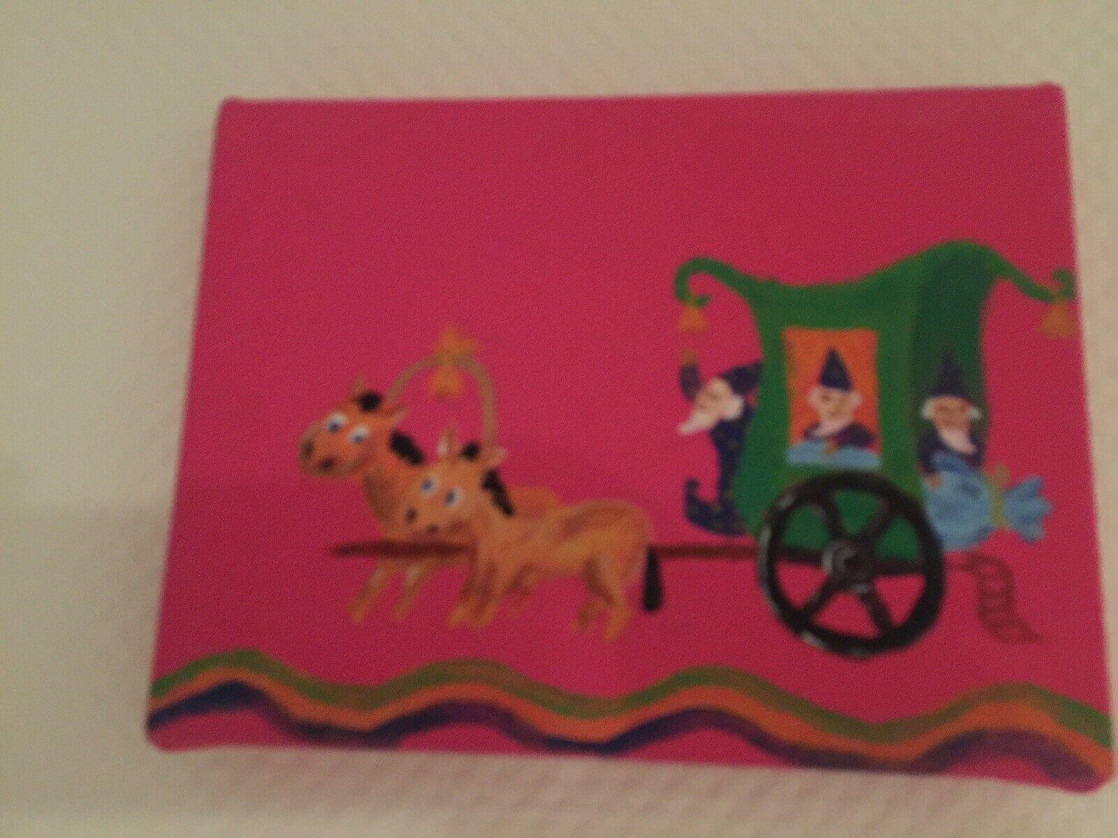 Bild, Kutsche 24x18cm, Öl auf Leinwand, handgemalt, Kinderbild