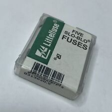LITTELFUSE 3AG 3//8  313  250V Slo Blo Lot of 5 Glass Fuses  B64