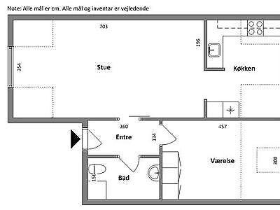 7600 vær. 2 lejlighed, m2 74, Gimsinghoved