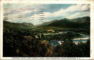 New Hampshire Vintage Postcards National Forest 2 White Mountains Double Gate Crawford Notch