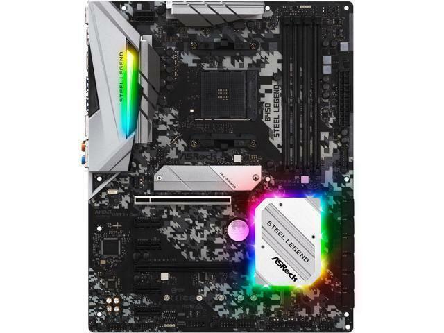 ASRock B450 Steel Legend AM4 AMD Promontory B450 SATA 6Gb/s USB 3 1 HDMI  ATX AMD