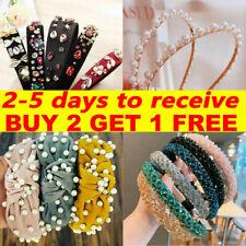 Women Diamond Jewel Gems Pearl Headband Crystal Hair Band Girl Ladies Headwear