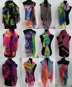 US SELLER-lot of 6 rose abstract floral hijab wrapping skirt sarongs scarves