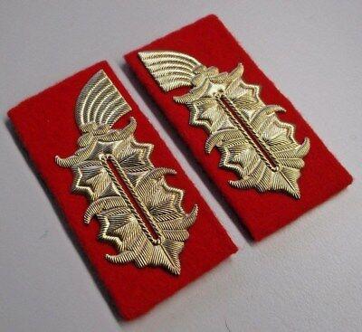 1 Paar Kragenspiegel Offizier Luftverteidigung NVA !