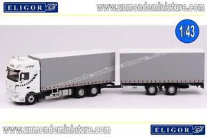 Camion Remorque Daf Xf2017 Transport Stb Eligor - El 116404 Echelle 1/43 News