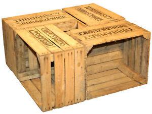 Pezzi solido obstkisten ts cassette di vino forziere in legno
