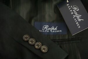 Ralph-Lauren-Solid-Black-Everyday-Wear-Sport-Coat-Jacket-Sz-46R-NEW-WITH-TAGS