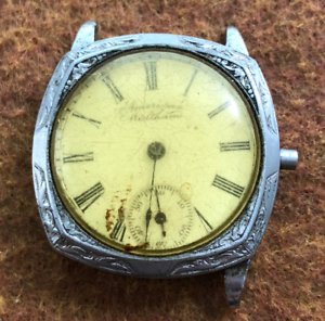 Vintage-1896-Men-039-s-Waltham-1891-Wrist-Watch-Grade-60-Parts-Repair-Silver-0s-7j