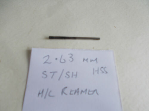 2.63mm Straight Shank Machine Reamer