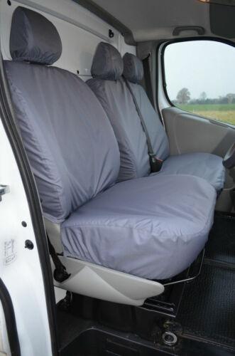 Renault Trafic 2001-2006 a Medida /& Impermeable Gris Fundas de los asientos delanteros UK Made na