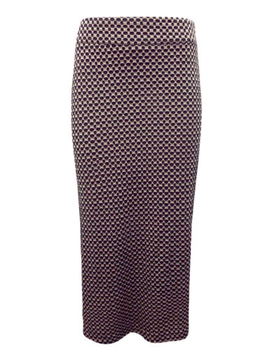 New Ladies Camden Weave Bloomsbury Black//Beige Full Length Skirt XS M XL S