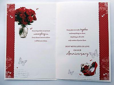 A mi hermosa esposa Rosas Rojas Zapatos Cartera & Pendientes De Diseño Tarjeta De Aniversario