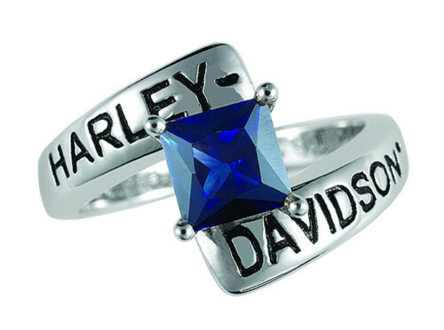 Harley Davidson Faux Sapphire Ring by The Franklin Mint