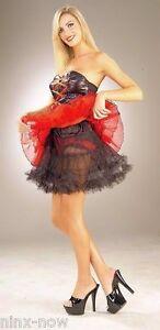 Petticoat-Black-women-039-s-fancy-dress-costume-18-034-43-cm-long-burlesque-fits-10-18