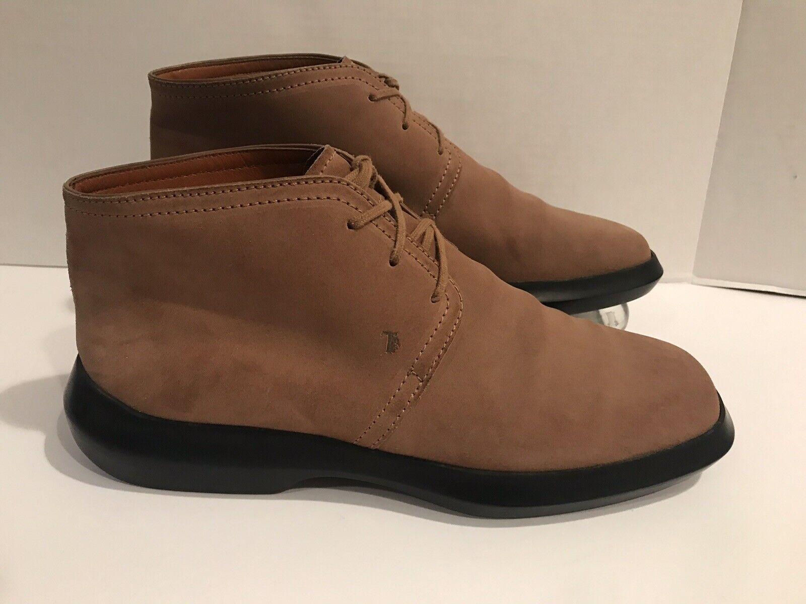 Tods Piel ante Marrón Botines con Cordones Zapatos para Dama, Números 39.5 Eur