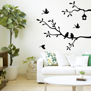 Large-Removable-Vinyl-Art-Wall-Sticker-Tree-Branch-Birds-Mural-Decal-Decoration