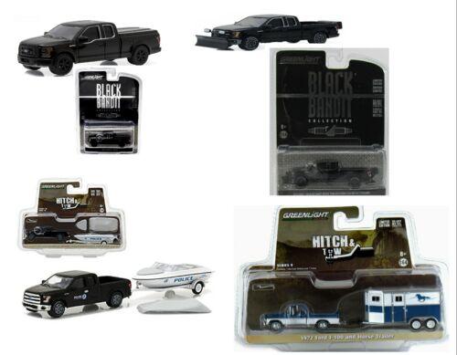 GreenLight ford f-150 Black Bandit-boat tráiler//f-100 Horse tráiler 1:64 nuevo