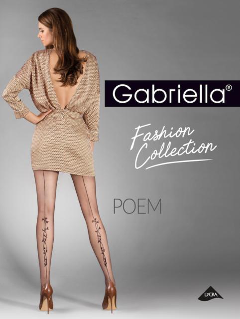 Stunning Seam Tights back seam Pantyhose  Gabriella Poem 20 Den Lycra floral