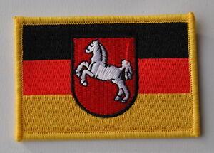 Aufnaher Patch 0276 Aufbugler Niedersachsen Fahne Flagge Wappen Neu Ebay