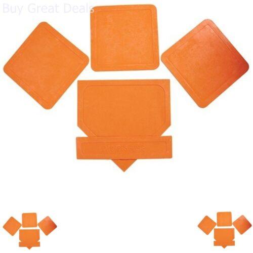 5-Pack Orange jette les bases de baseball softball Home plaque de fond en caoutchouc