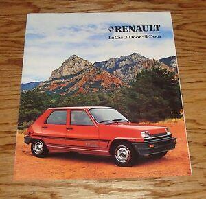 original 1982 renault le car foldout sales brochure 82 ebay. Black Bedroom Furniture Sets. Home Design Ideas