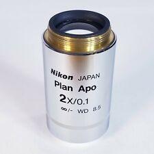 New Listingnikon Plan Apo 2x01 Wd 85 Microscope Objective