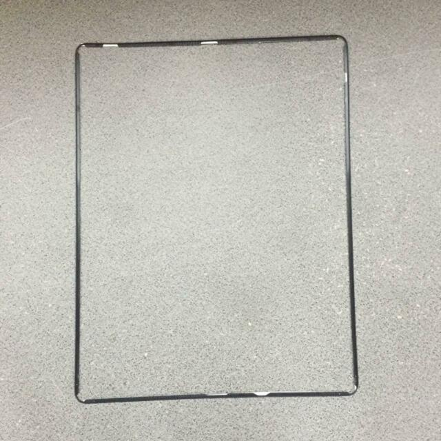 New iPad 2 3 4 Digitizer LCD Screen Bezel Plastic Middle Frame Adhesive White