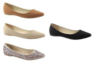 BRAND NEW WOMEN/'S GLITTER BALLERINA BALLET FLATS