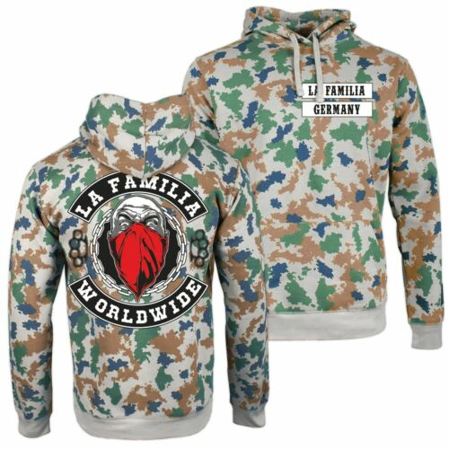 Capuche Tarn Blumentarn LA FAMILIA Worldwide Fraternité Army hoodie