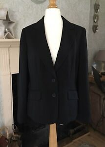 Women S Austin Reed Jacket Size 14 Black Smart Work Office Wear Good Condition Ebay